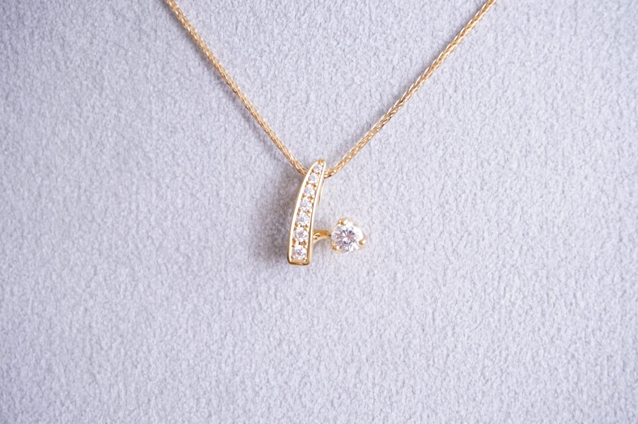 シンプルダイヤモンドペンダント