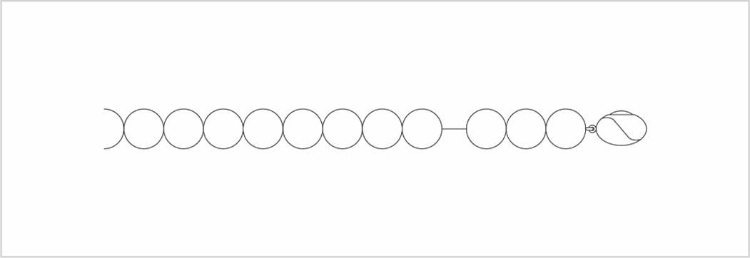 糸の緩んだパールネックレスの図