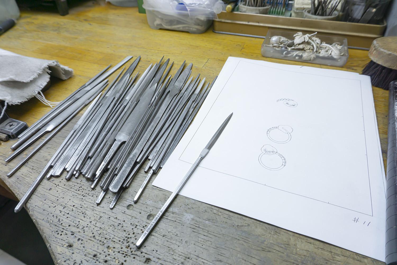 バロックパールリングのデザイン画